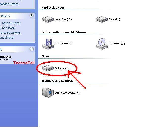 Use Gmail as external hard drive