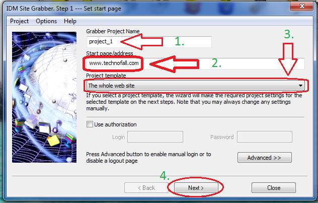 How to download website