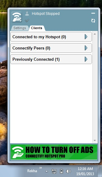 Create wifi hotspot in laptop