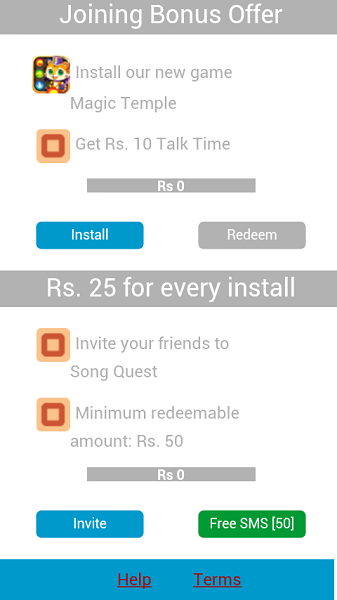 Get free talktime from android apps