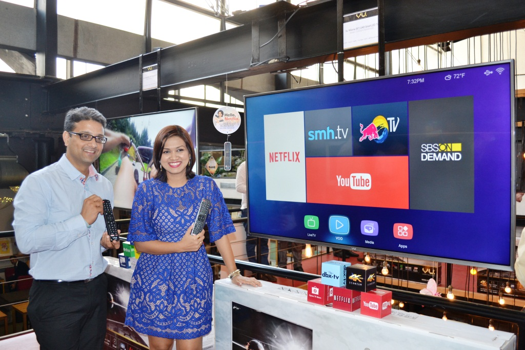 Mr Amit Bansal-  -Business Unit Head - Flipkart & Ms Devita Saraf, CEO, VU Televisions