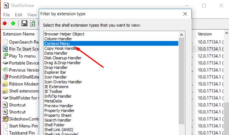 Fix Windows 10 right click loading problem