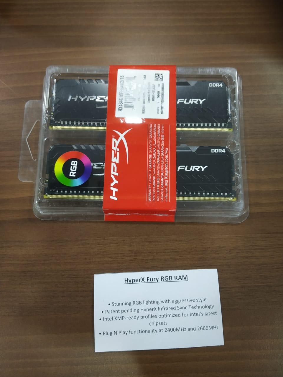 HyperX fury DDR4 RGB memory