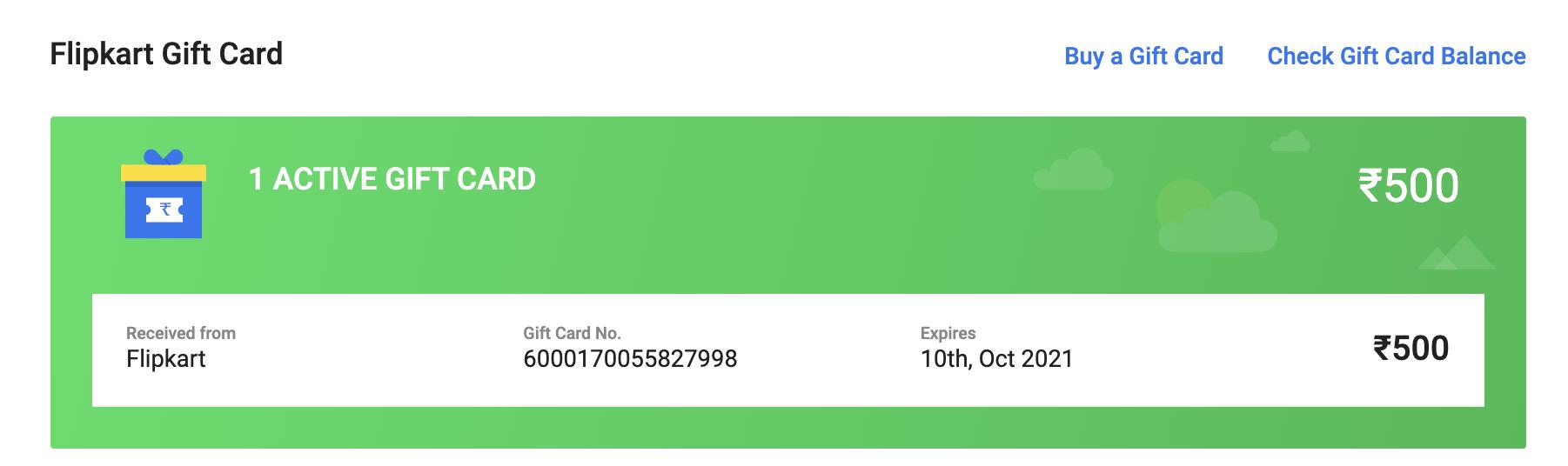 Get Free Flipkart Gift card worth 500 INR